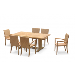 6 Seater Garden Set with Cadogan 1.8m Table and St. Tropez Stacking Chairs