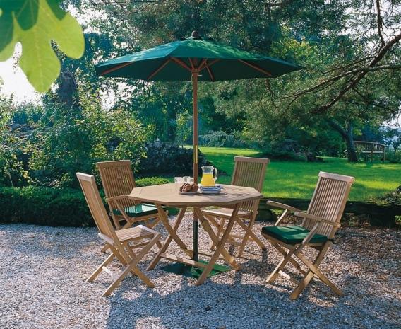Suffolk Octagonal 1.2m Table & 4 Ashdown Chairs