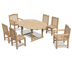 Brompton 6 Seater Double Extending Table 1.2-1.8m, Clivedon Side Chairs & Armchairs