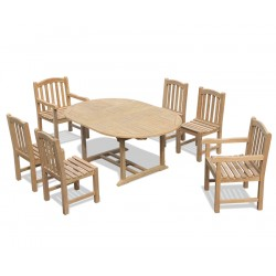 Brompton Extending Table 1.2-1.8m, 6 Clivedon Side Chairs & Armchairs