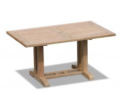 Cadogan Rectangular Patio Table, Outdoor Pedestal Table – 1.5m
