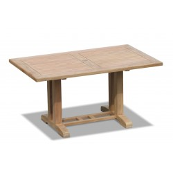 Cadogan Rectangular Outdoor Pedestal Table – 1.5m