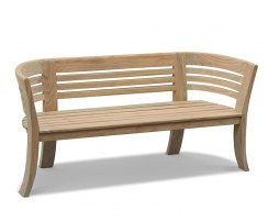 Kensington Teak 6ft Deco Garden Bench