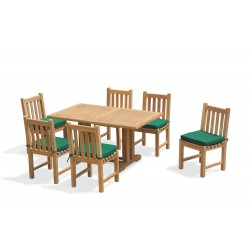 Cadogan 6 Seater Teak Table 1.5m & Windsor Side Chairs