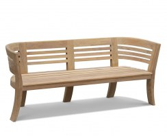 Kensington Teak 8ft Deco Garden Bench