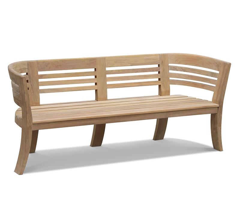 Kensington Teak 8ft Deco Garden Bench