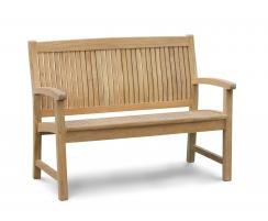 Stanford 2 Seater Teak Outdoor Bench – 1.2m