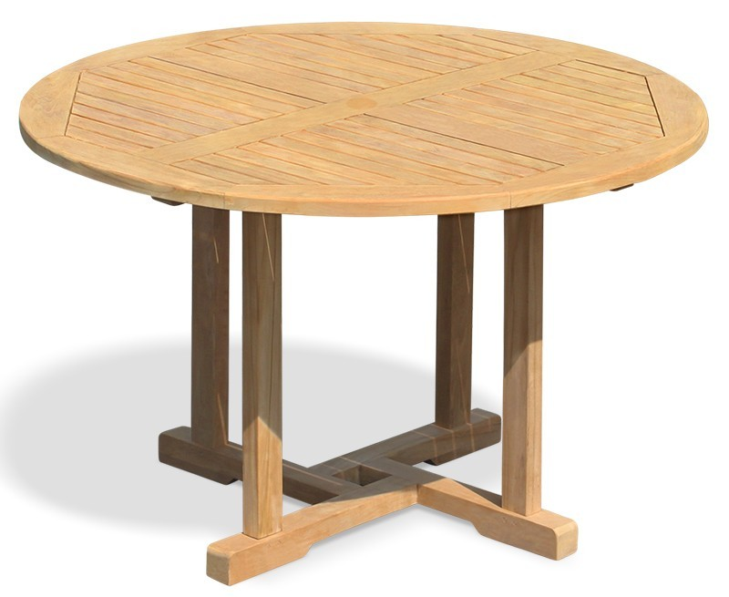 Canfield Round Garden Table 1 2m Amp 4 Ascot Dining Chairs Set