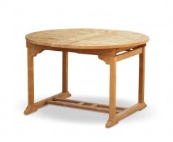 Brompton Teak Extending Garden Table, Double Leaf, Oval – 1.2 - 1.8m