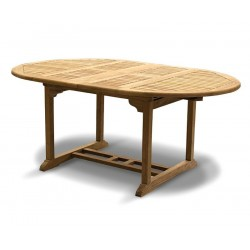 Brompton 120cm - 180cm Teak Extendable Dining Table