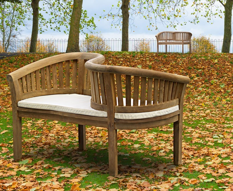 Garden Loveseat Teak Kissing Bench