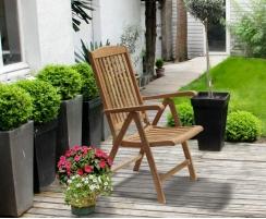 teak garden recliner