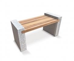 Gallery Granite and Teak Bench – 1.3m