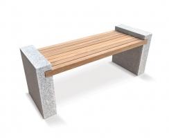 Gallery Teak and Granite Garden Bench – 1.6m