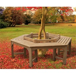 hexagonal tree bench