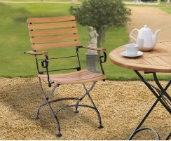 french foldable bistro chair