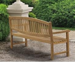 teak outdoor bench
