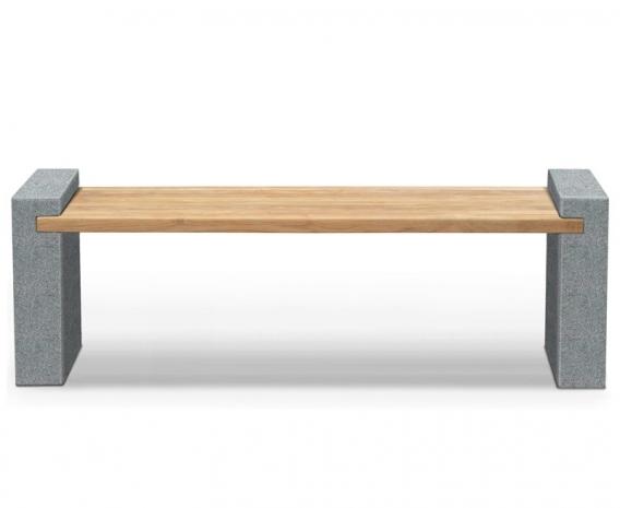 Gallery Granite and Teak Bench – 1.9m