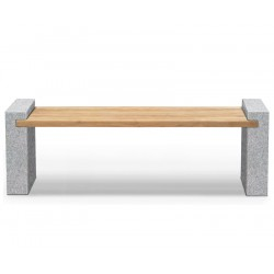 Gallery Teak and Granite Outdoor Bench – 1.9m