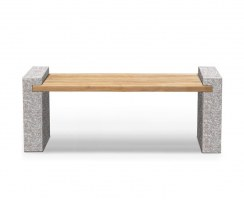 Gallery Granite and Teak Bench – 1.6m