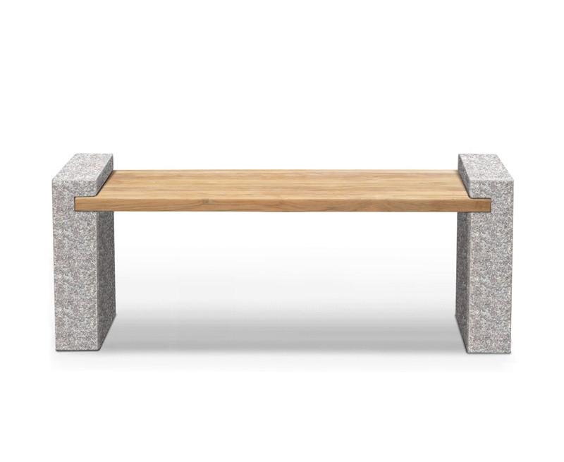 Gallery Granite and Teak Bench – 1.6m