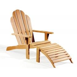 Adirondack Chair, Teak wood with leg rest