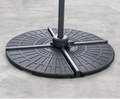 HDPE Concrete Filled Cantilever Parasol Base Weights – 2 Pieces