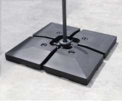 Four-Piece Fillable Cantilever Parasol Base – 90kg