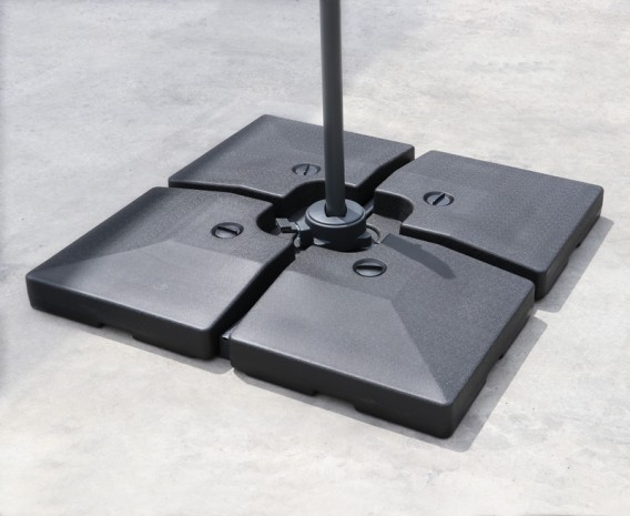 Four-Piece Fillable Cantilever Parasol Base – 90-120kg