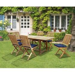 Hilgrove Rectangular Dining Table 1.8m & 6 Bali Folding Side Chairs