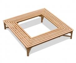 Teak Square Tree Bench – 2.2m