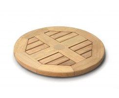 Outdoor Wooden Lazy Susan – 0.5m