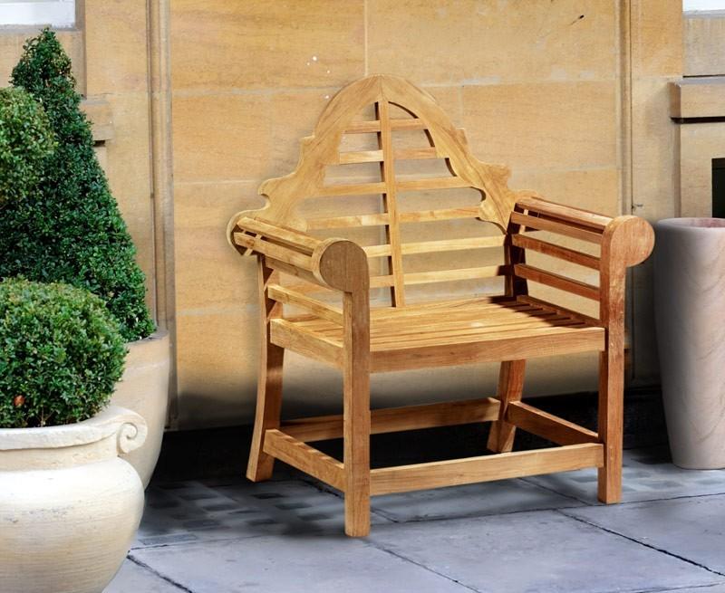 lutyens chair teak decorative garden armchair