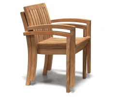 Monaco Teak Stackable Garden Chairs