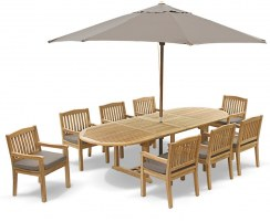 Brompton Extending 2 - 3m Table & 8 Hilgrove Armchairs Dining Set