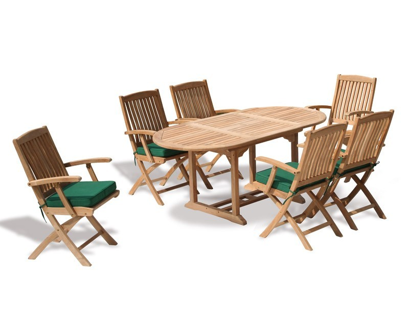 Brompton Bijou Extending 1.2 - 1.8m Table & 6 Bali Armchairs