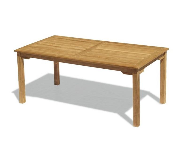 Sandringham Teak Outdoor Table, Rectangular – 1.8m