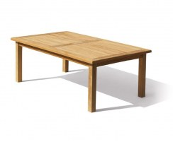 Balmoral Teak Chunky Rectangular Garden Table – 2m