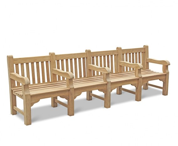 Balmoral Large Heavy Duty Park Bench With 5 Arms 3m