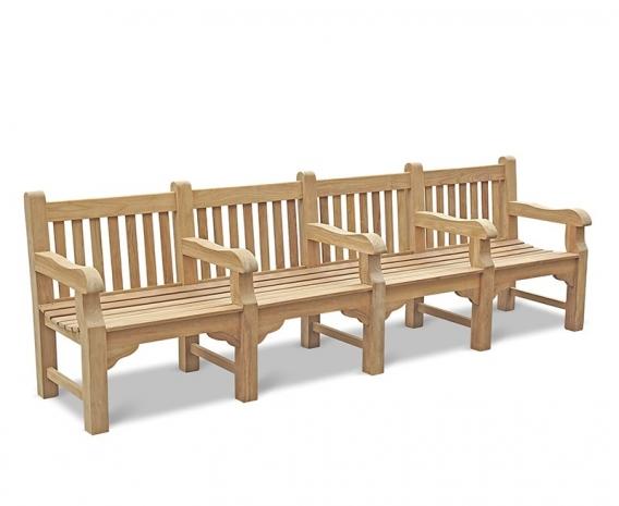 Amazing Balmoral Large Heavy Duty Park Bench With 5 Arms 3M Customarchery Wood Chair Design Ideas Customarcherynet