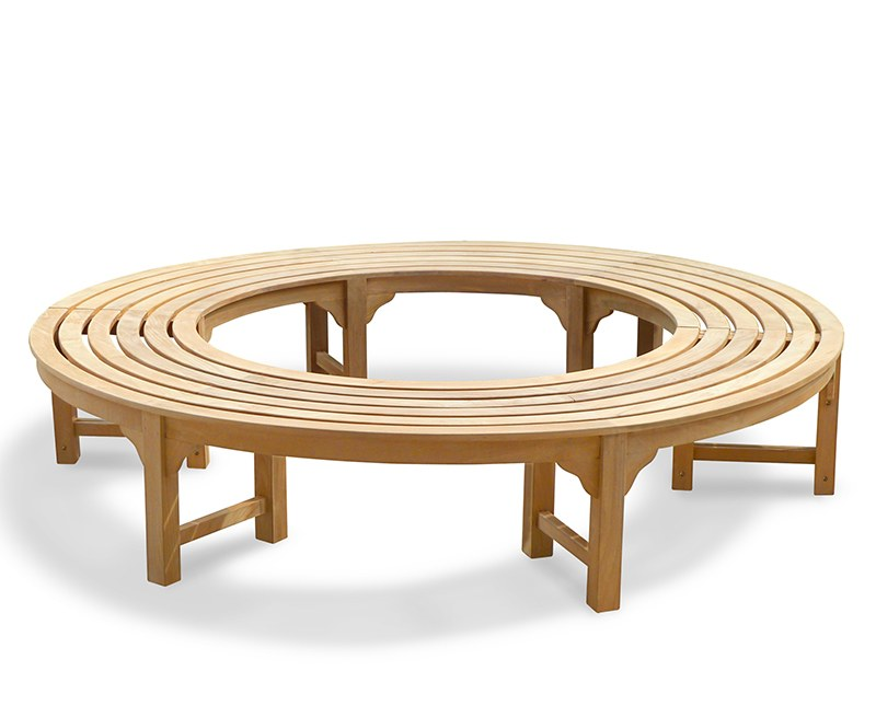 Saturn Teak Circular Tree Seat, Backless Tree Bench – 2.2m