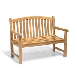 Clivedon 2 Seater Garden Bench, Teak – 1.2m