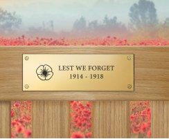 WW1 Centenary Engraved Brass Commemorative Plaque – Standard Size