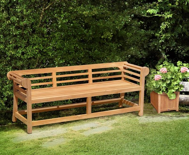 Teak Lutyens Garden Bench Low Back 1 95m