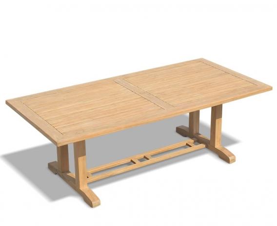 Cadogan Oblong Pedestal Table, Teak Wood – 1.1 x 2.25m