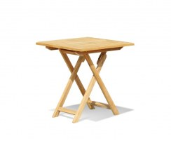 Suffolk Square Garden Table, Folding, Teak – 0.7m