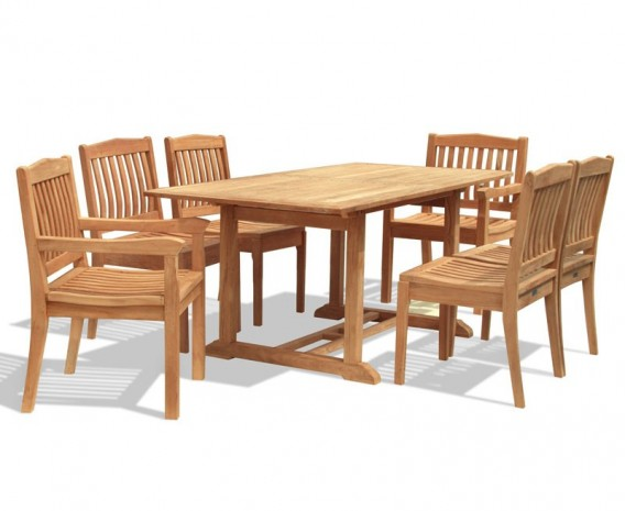 Hilgrove 6 Seater Rectangular Dining Table 1.5m, Side Chairs & Armchairs
