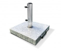 Granite Parasol Base with wheels, Square – 25kg