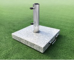 25kg Granite Parasol Base with wheels, Square