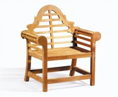 Hilgrove Coffee Table & Lutyens Armchairs, Teak Conversation Set